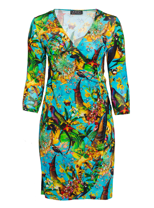 Curvy Wrap Dress Deluxe, New Caledonia