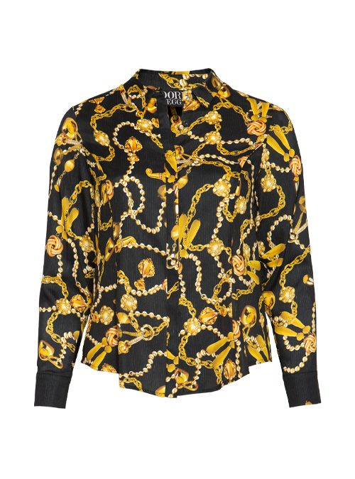 Silk Hemdbluse, Gilded Chain