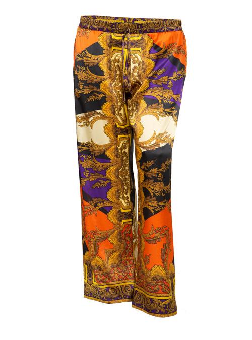 Silk Pants, Bariolé, Wide Leg