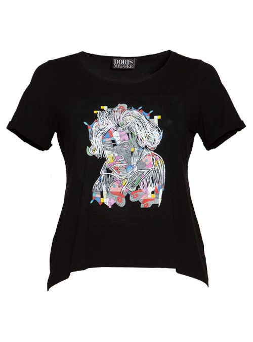Doris Statement Shirt, The Art Edition, Black