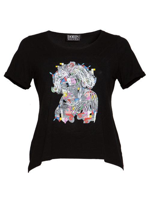 Doris Statement Shirt, The Art Edition, Black