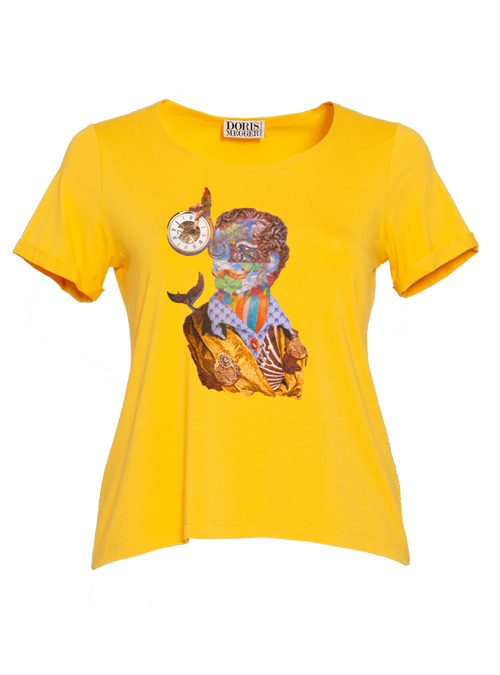 Doris Statement Shirt, The Art Edition, Lemon