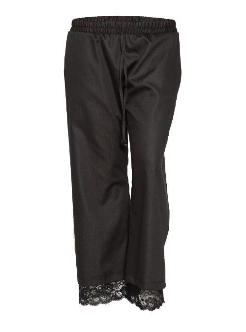 Chambray and Lace Pants, Wide Leg
