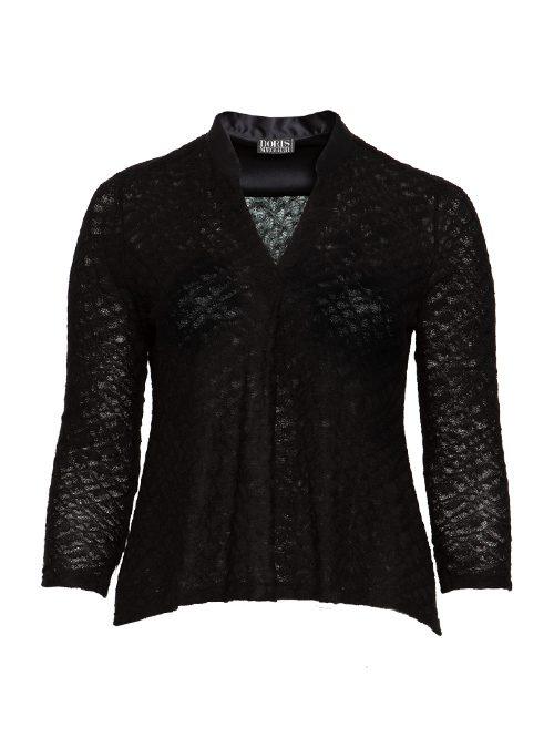 Silk and Knit V-Neck Shirt, Lightwoven