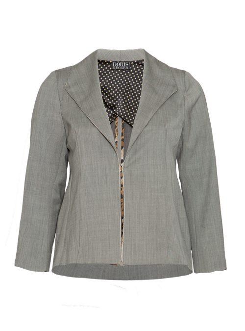 Dresscode Blazer, Bright Grey, Pearl Edge