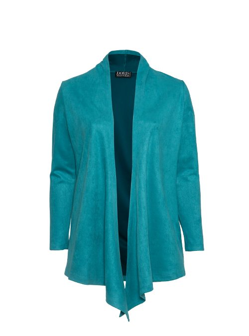 Change Jacket, Teal, Velvet Leather