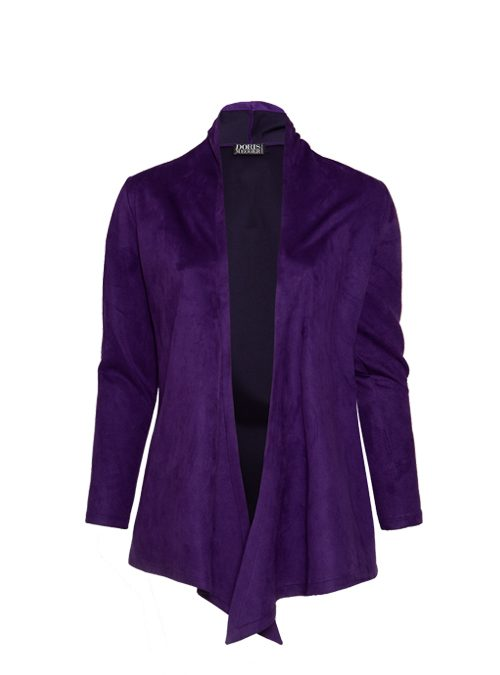 Change Jacket, Aubergine, Velvet Leather