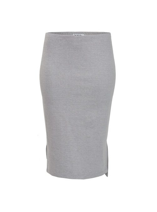 Midi Skirt, Light Grey