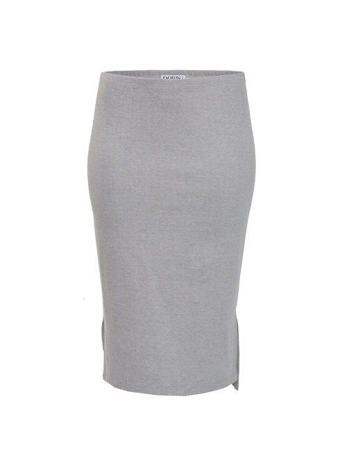 Midi Skirt, Light Grey