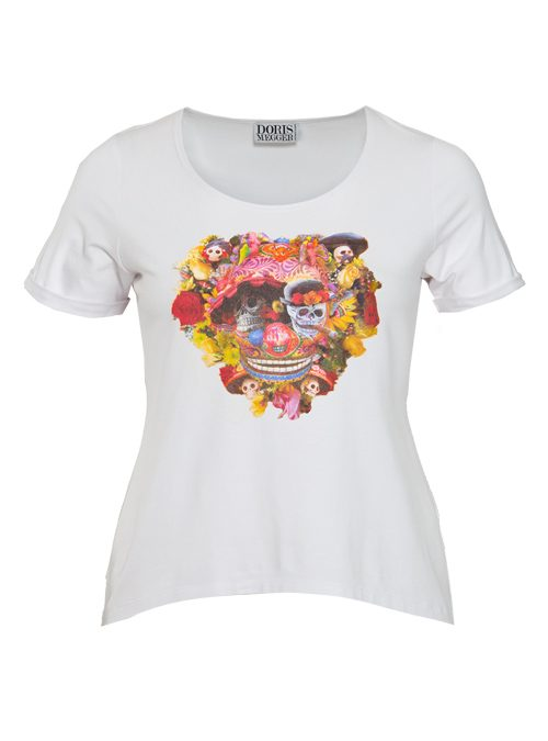 Doris Statement Shirt, Art Edition, White