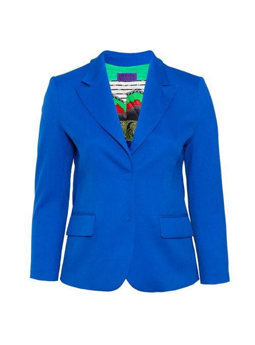 Tailored Blazer, Neo Classic, Electric Blue