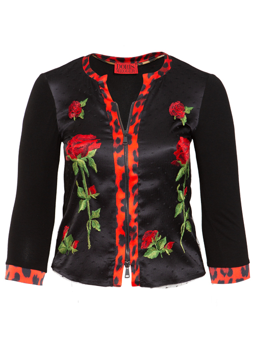 Blousia, Zip, Eccentric Rose, Embroidered Lace