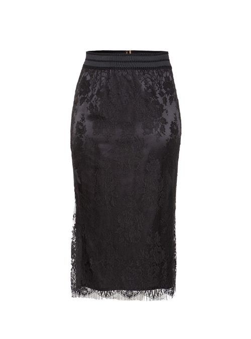 Layerskirt, Lace, Onyx Black