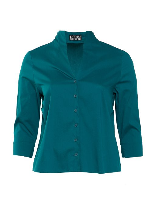 Spot on Blouse, Deep Teal