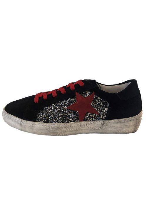 Low Sneaker, Silver, Used Look