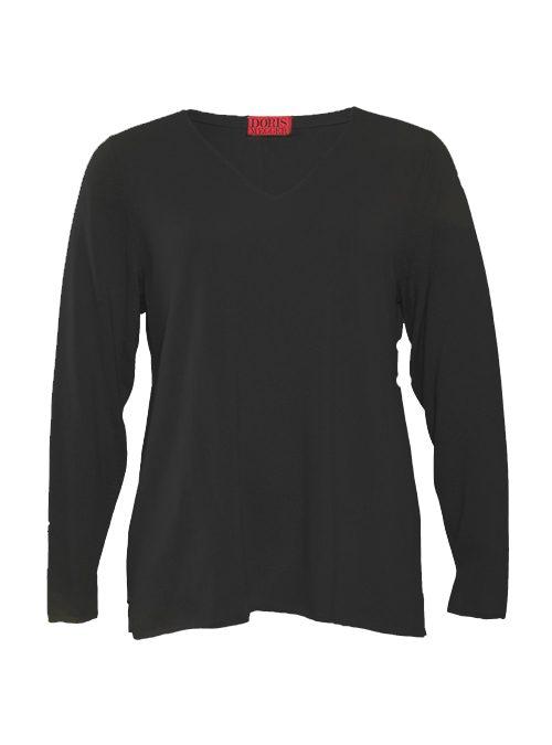Cashmere Pullover V-Neck, Filati Loro Piana, Pure Black