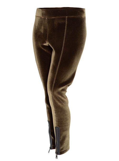 Slim Cut Zip Pants, Velvet Edition