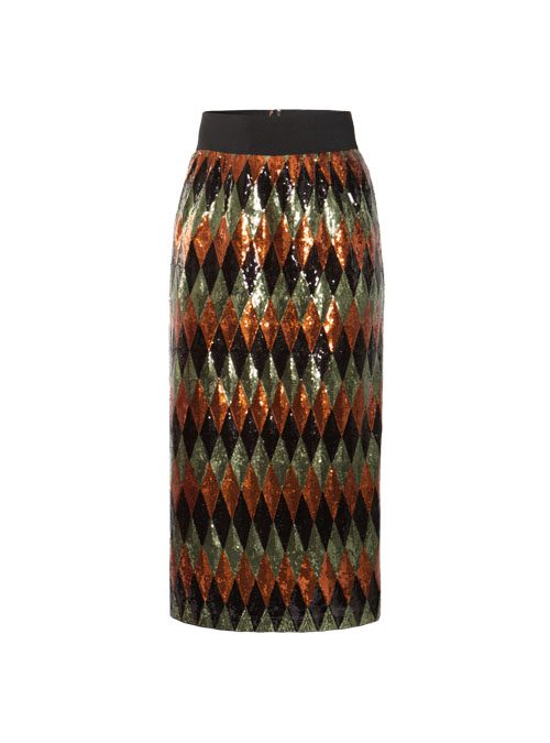 Showstopper Skirt, Sleek Sequins