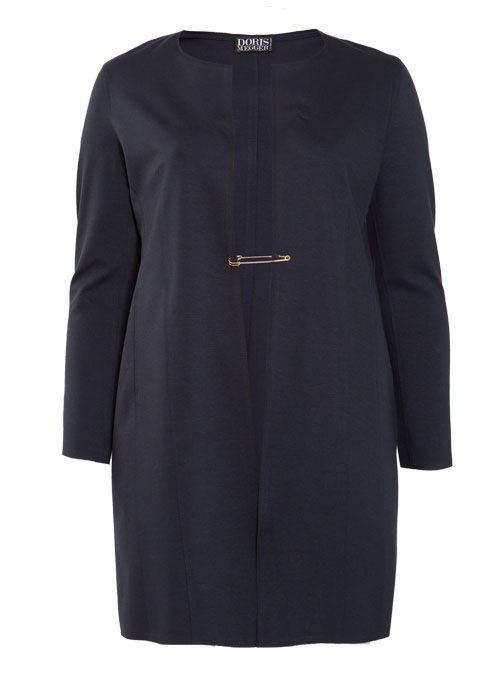 Long Frock Coat, Heavy Jersey, Navy Blue