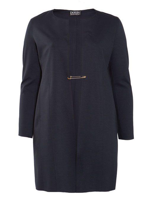 Long Frock Coat, Heavy Jersey, Navy Blue