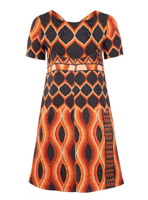Gracia Dress, Relief Print, Silk Lining
