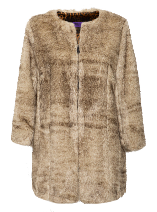 Webpelz Coat, Natural grey