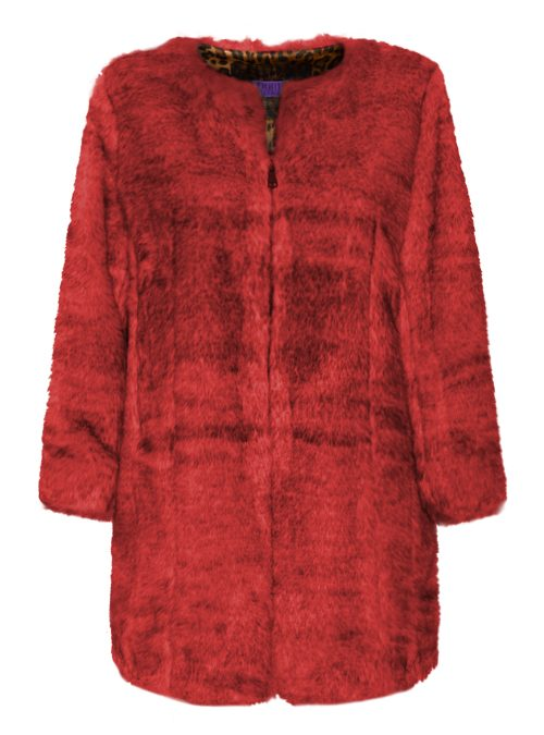 Webpelz Coat, Bright Passion Red