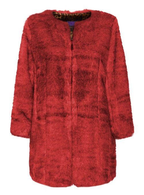 Webpelz Coat, Bright Passion Red