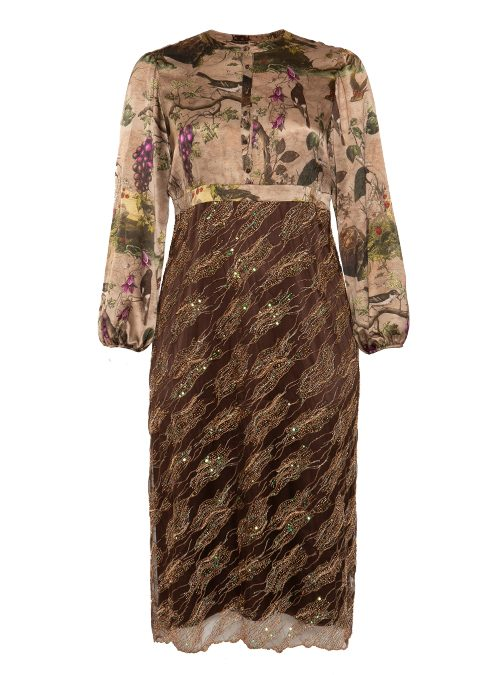 Glam Fusion Luxury Dress, Midi Length, Sequins
