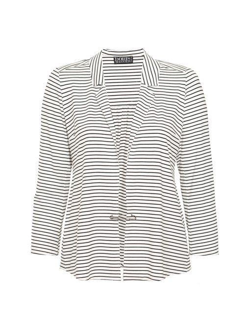 The alternate Jersey Blazer, Tailored, Italian stripes, Ivory