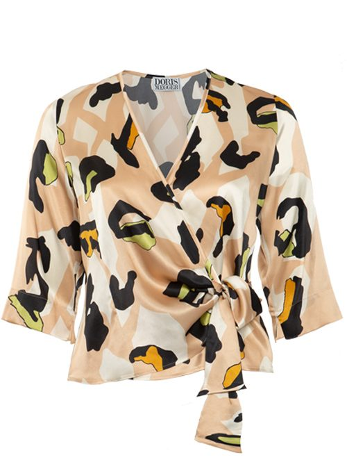 Silk Wrap Blouse Gina, Bellezza