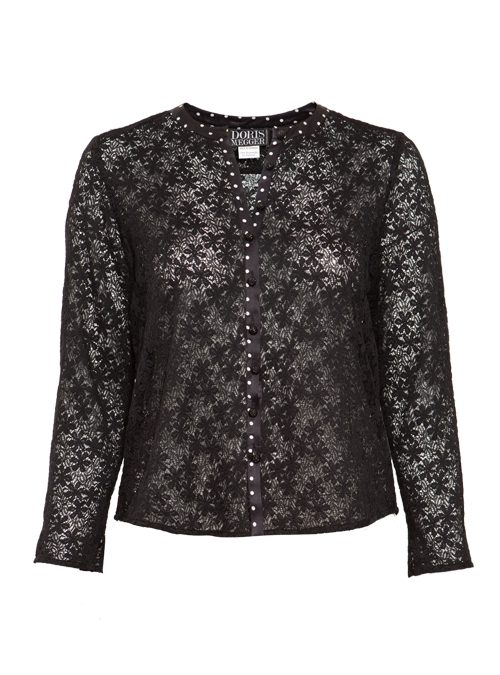 Lace Blouse, Silk Edge, Dots