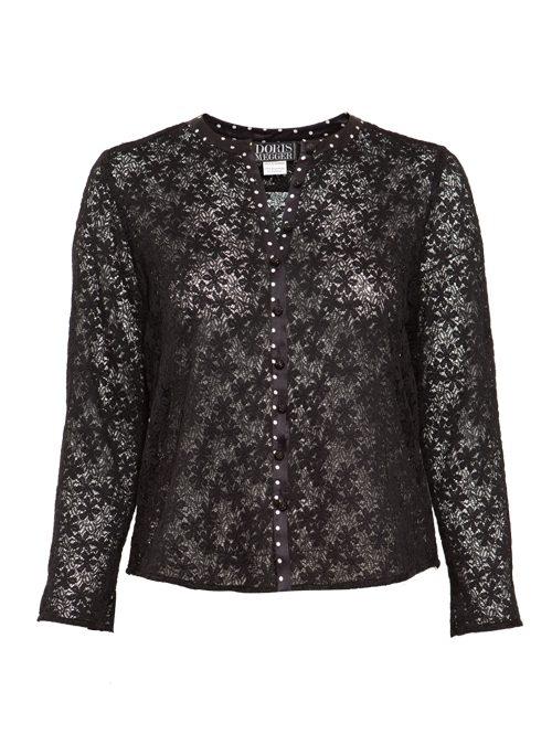 Lace Blouse, Silk Edge, Dots