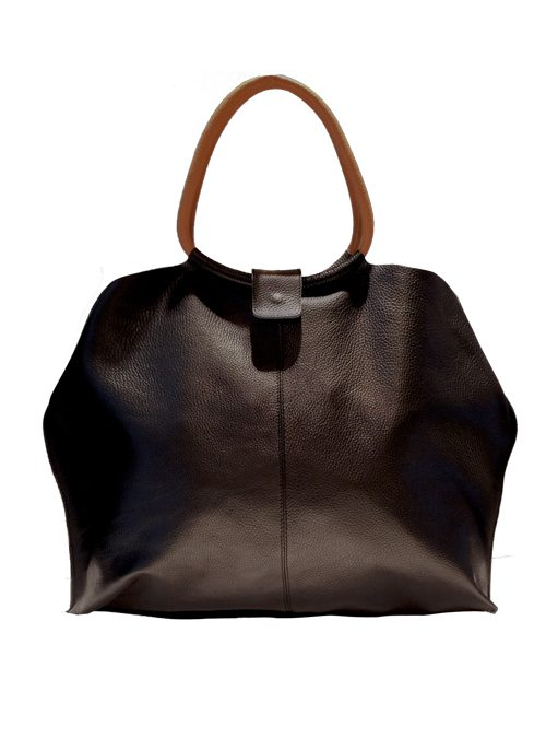 Large Leather Tote Bag, Black