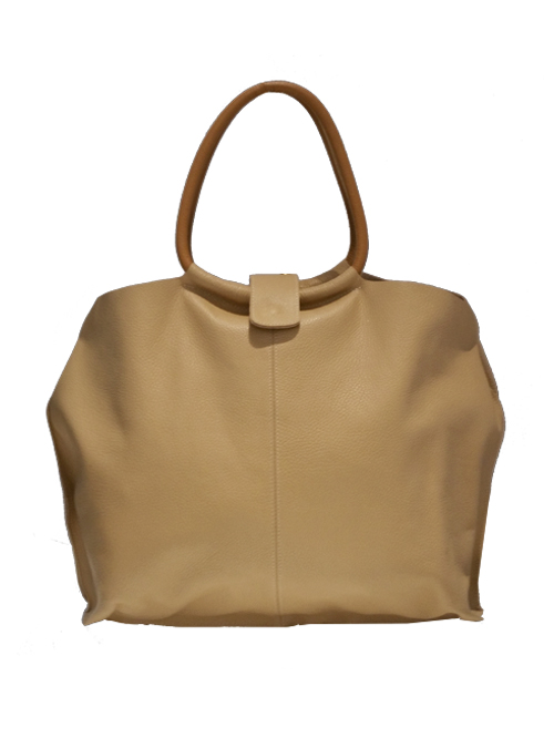 Large Leather Tote Bag, Supreme Nude