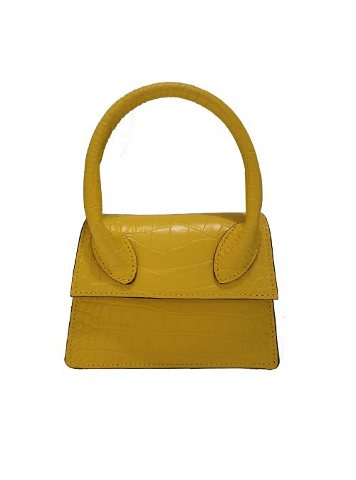 Mini Croc-effect Bag, Crossbody, Tuscan sun