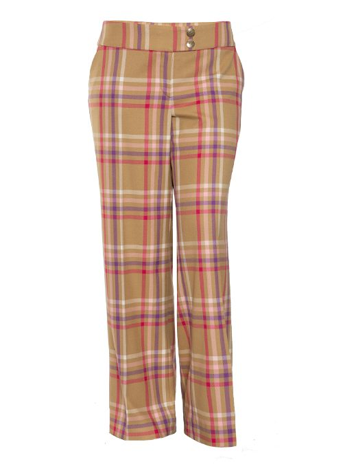 Atelier Marlene Pants, Tan and mauve
