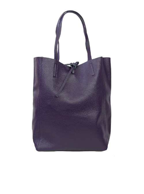 Bucket Bag, Rich Plum Leather