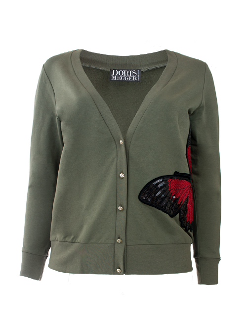 Lifestyle Sweater, Olive, Butterfly