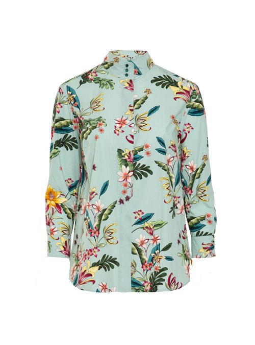 Style Blouse, Printed, Flowery Mint