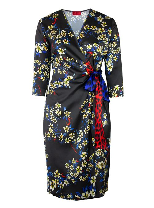 Magic Tie Dress, Finest Silk, Midnight Paradise