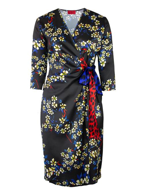Magic Tie Dress, Finest Silk, Midnight Paradise