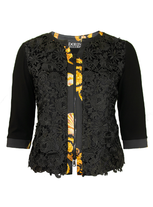 Blousia, Zip, Belissima, Embroidered Silk