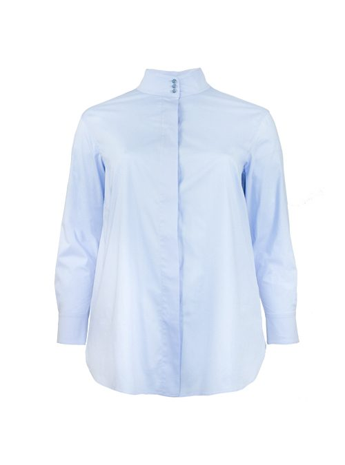 Spot on Blouse Deluxe, Celeste Blue