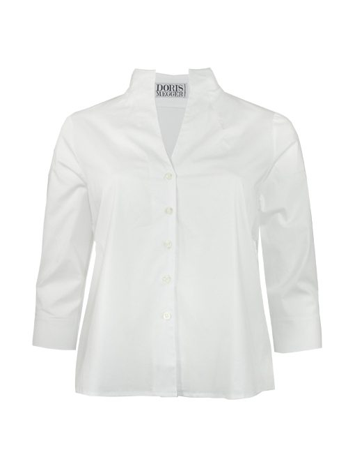Spot on Blouse Deluxe, Monochrome White