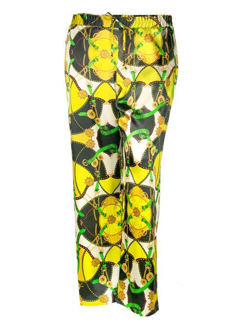 Silk Pants, Royal, Wide Leg