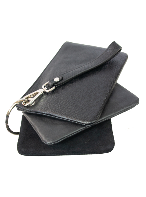 Key Chain Bag, Black and Silver