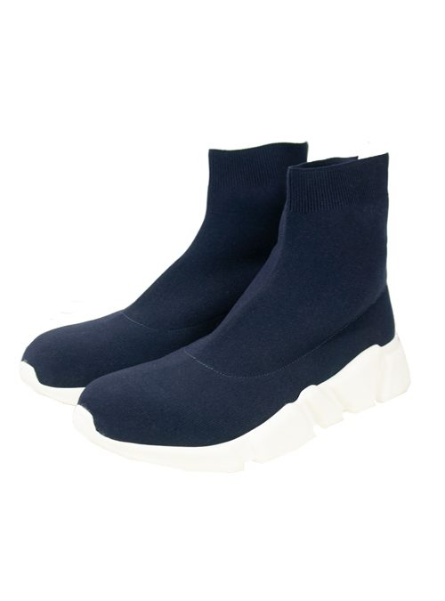 Sock Sneaker, Dark Blue