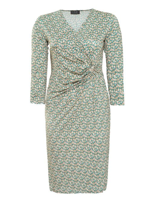 Curvy Wrap Dress, Vintage Vibes, Jersey