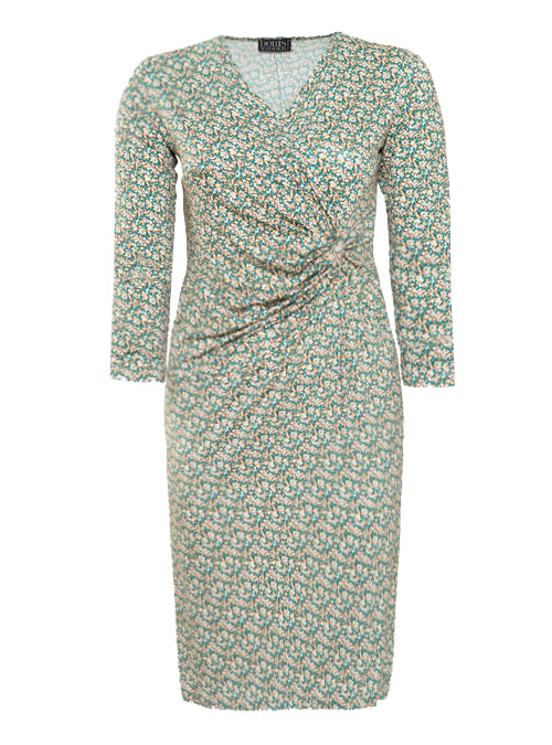 Curvy Wrap Dress, Vintage Vibes, Jersey